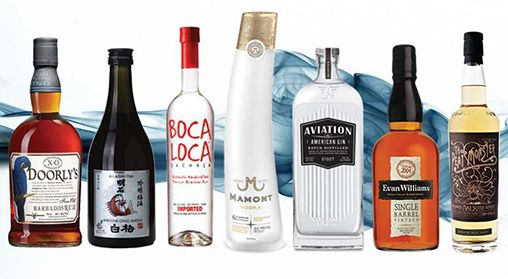 Boutique spirits available at Wineservice